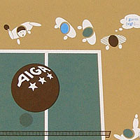 Poster for CalArts AIGA Ping Pong Party