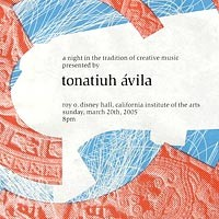Poster for Tonatiuh Avila's Percussion Recital