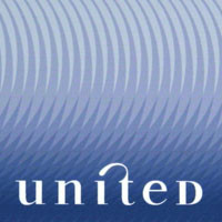 United Airlines logo and stationary