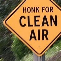 Honk For Clean Air intervention