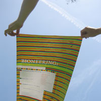"""Bioneering"" poster and postcard"