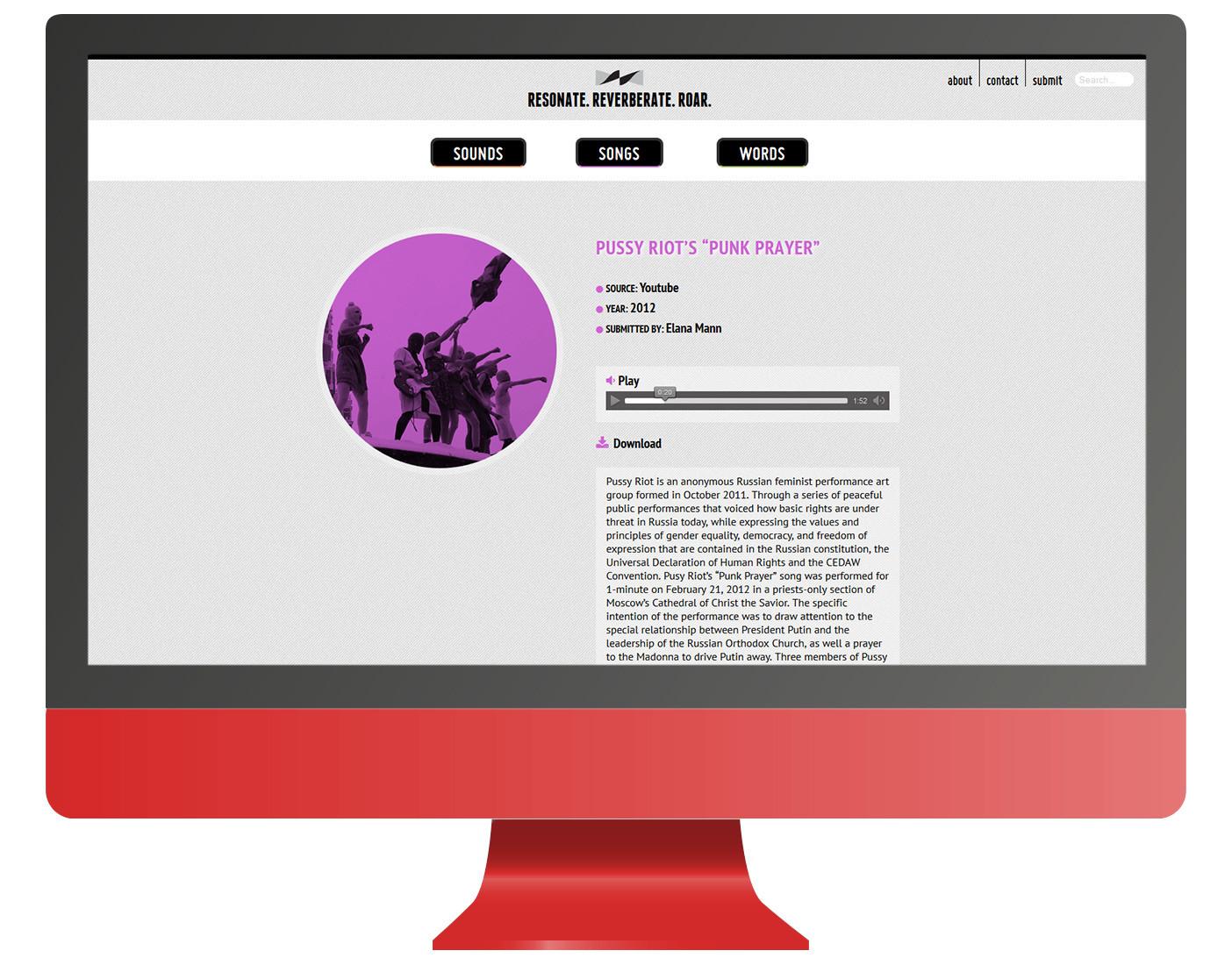 Resonate-Reverberate-Roar (Re-Re-Roar) website   Roman Jaster