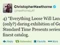 Christopher Hawthorne tweets about Everything Loose Will Land