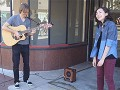 Busking at CicLAvia